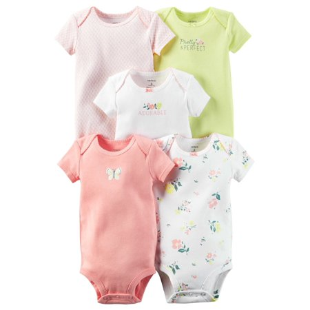Carters Baby Clothing Outfit Girls 5-Pack Original Bodysuits Pretty & Perfect Floral