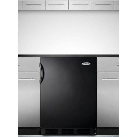 AL652BBI 24 ADA Compliant Top Freezer Refrigerator with 5.1 cu. ft. Capacity  Cycle Defrost  Dual Evaporator  Zero Degree Freezer and in Black