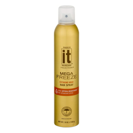 Freeze It Haircare Freeze Frame Hair Spray Mega Freeze Extreme Hold, 10.0