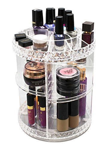 Sorbus Rotating Cosmetic Organizer, Adjustable Carousel Storage For  Cosmetics, Toiletries, And More (Clear)   Walmart.com