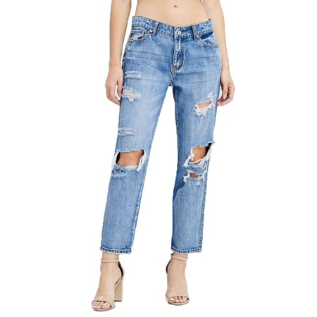 Kan Can Women's Medium Wash Canon-May Boyfriend Jeans (Kana Can Be Easy)