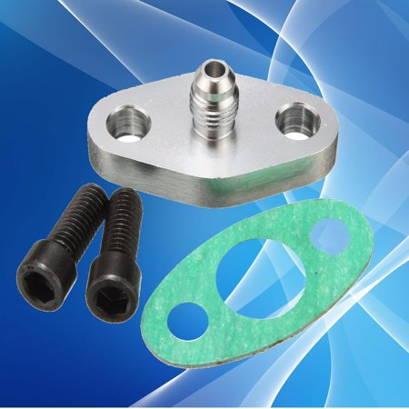 Oil Feed Adapter (Turbo Oil Feed Line Flange Gasket Adapter For Flange T3 T4 T04E T04B T70 4AN (No)