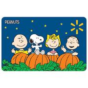 Peanuts and Pumpkins Walmart Gift Card