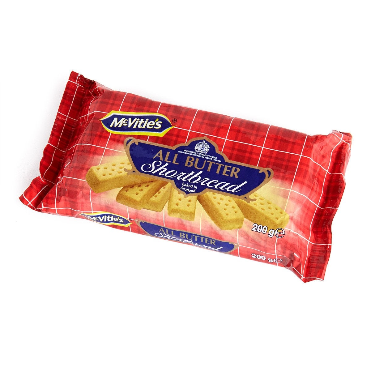 McVities All Butter Shortbread Cookies, 7 Oz
