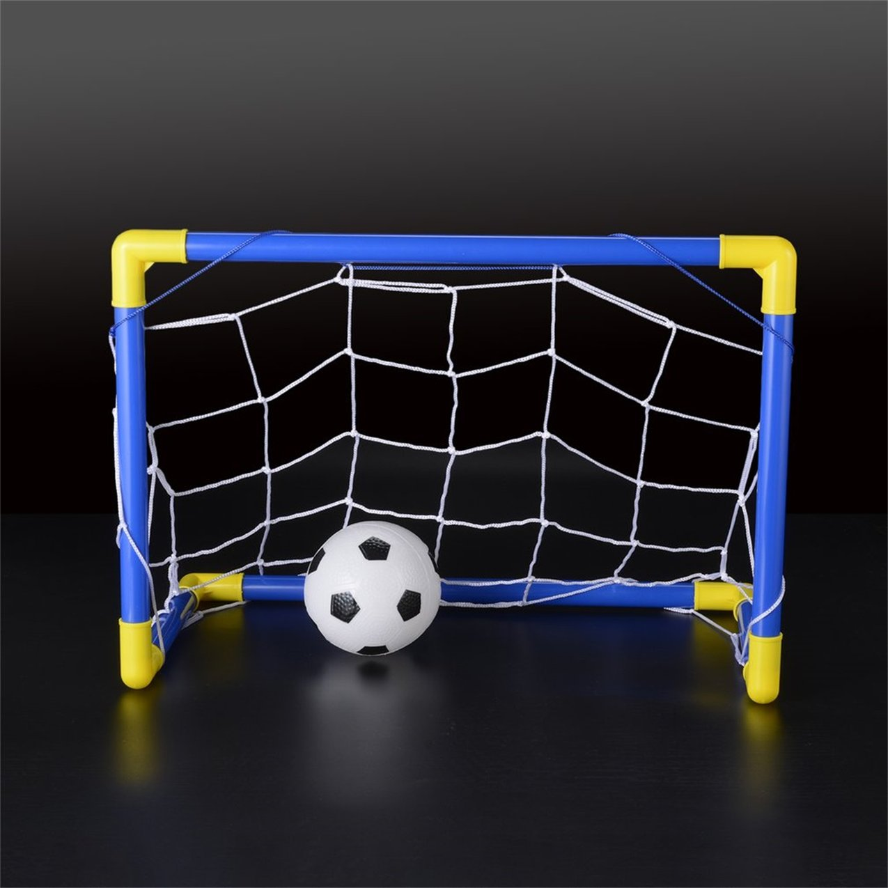 Folding Mini Football Soccer Goal Post Net Set with Pump Kids Sport Indoor Outdoor Games... by