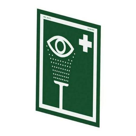 Hughes Safety Showers Es Eye Wash Signsymbolno Text12inhx10inw