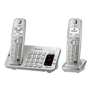 Panasonic Link2Cell, Cordless Phone, Bluetooth, 2 HNDST, Silver