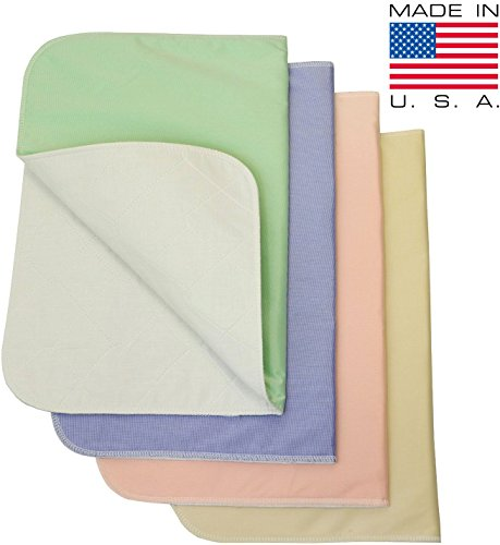 Merveilleux Washable Bed Pads Chair Pads / Incontinence Small Underpad   18x24   4 Pack