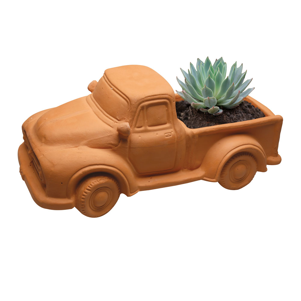 Terra Cotta Truck Planter Pot