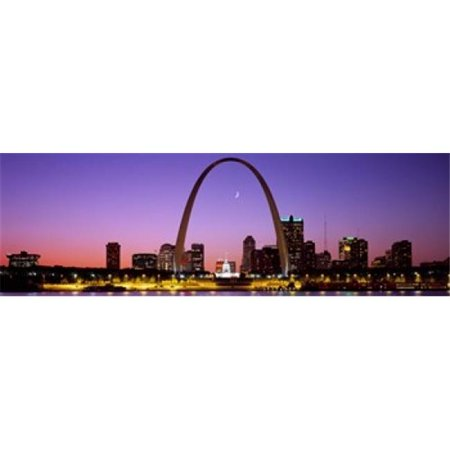 Panoramic Images PPI69309L Skyline  St. Louis  MO  USA Poster Print by Panoramic Images - 36 x 12 - image 1 of 1
