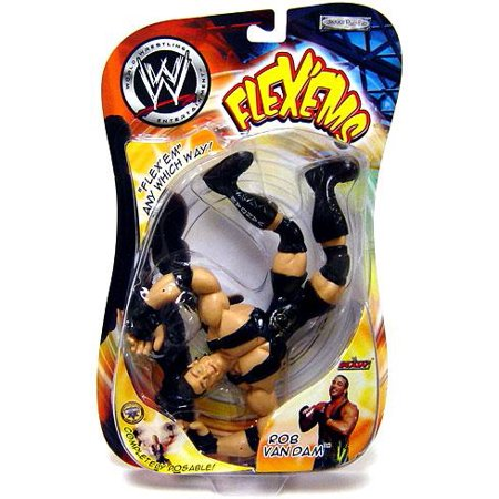 Rob Van Dam Wrestling (WWE Wrestling Flex'ems Series 5 Rob Van Dam Action)