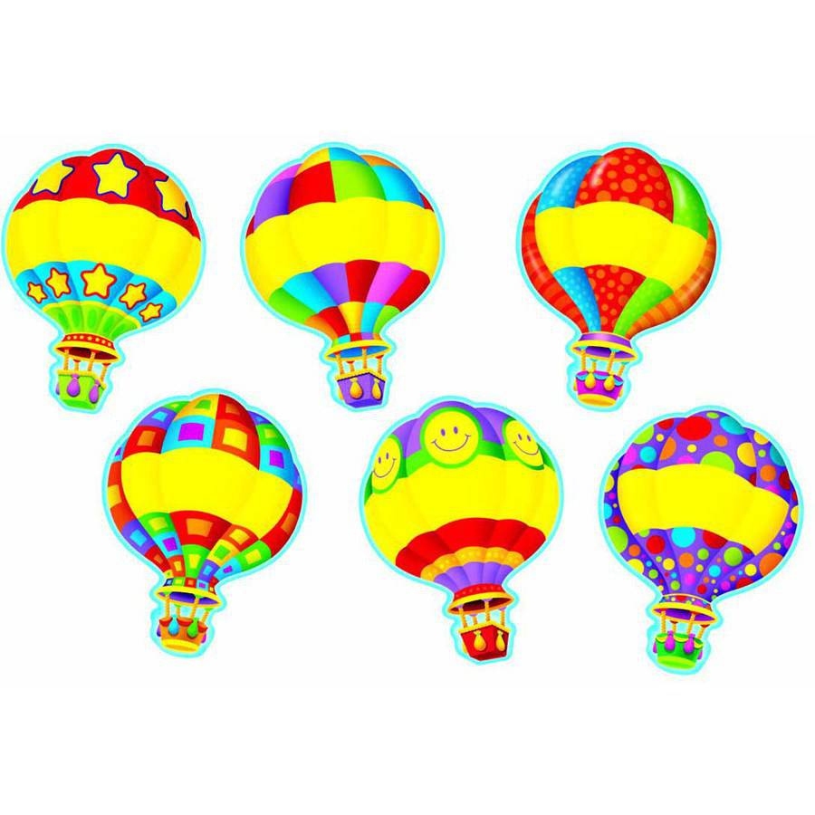 "Trend Hot Air Balloons Classic Accents, 5.5"", 36pk"