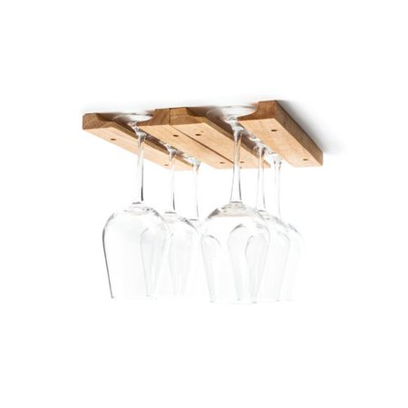 Fox Run Brands Wood Hanging Wine Glass Rack (Set of 4)