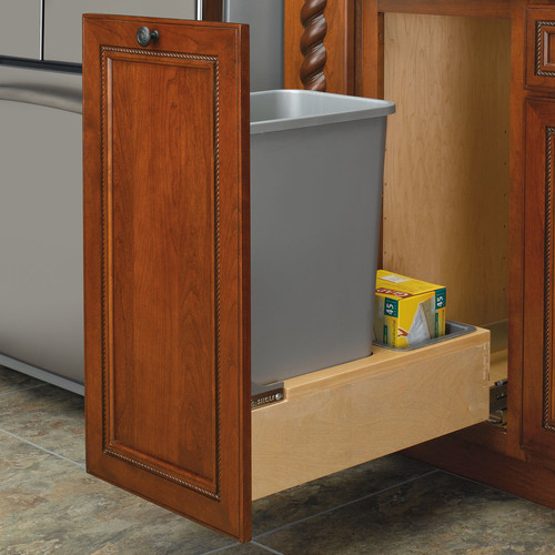 Rev-A-Shelf Bottom Mount 12.5 Gallon Pull Out Trash Can