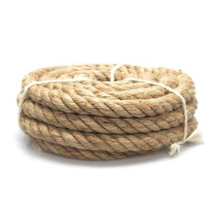 Natural Jute Fiber Rope, 12mm, (Natural Jute Fiber)