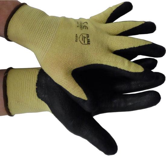 Nitrile Coated Kevlar String Knit with black palm (dz)-XXL