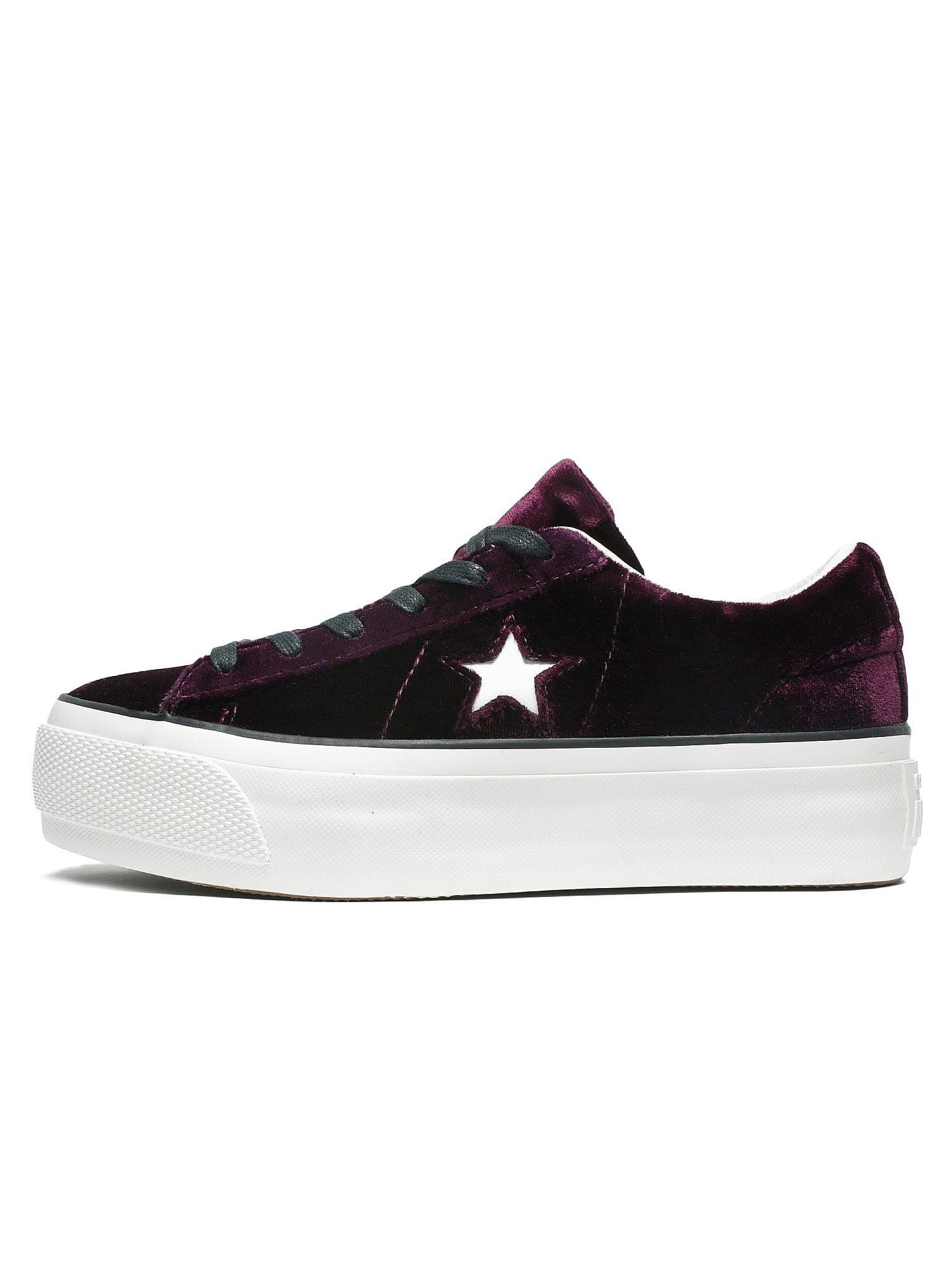 Womens Converse One Star Platform Ox Dark Sangria Egret 558951C