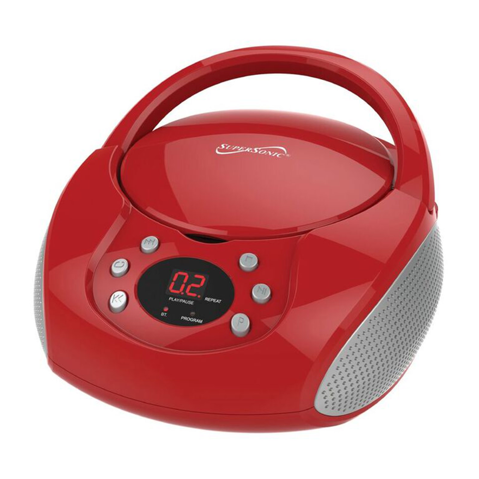 Supersonic BT Portable Audio System - Red