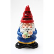 """Gnome What I Want? Money 8"""" Coin Bank"""