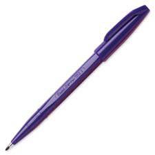 Pentel Metal Nonrefillable Pen - Pentel  Sign Pen, Nonrefillable, Water Based, Fiber Tip, SkyBlue