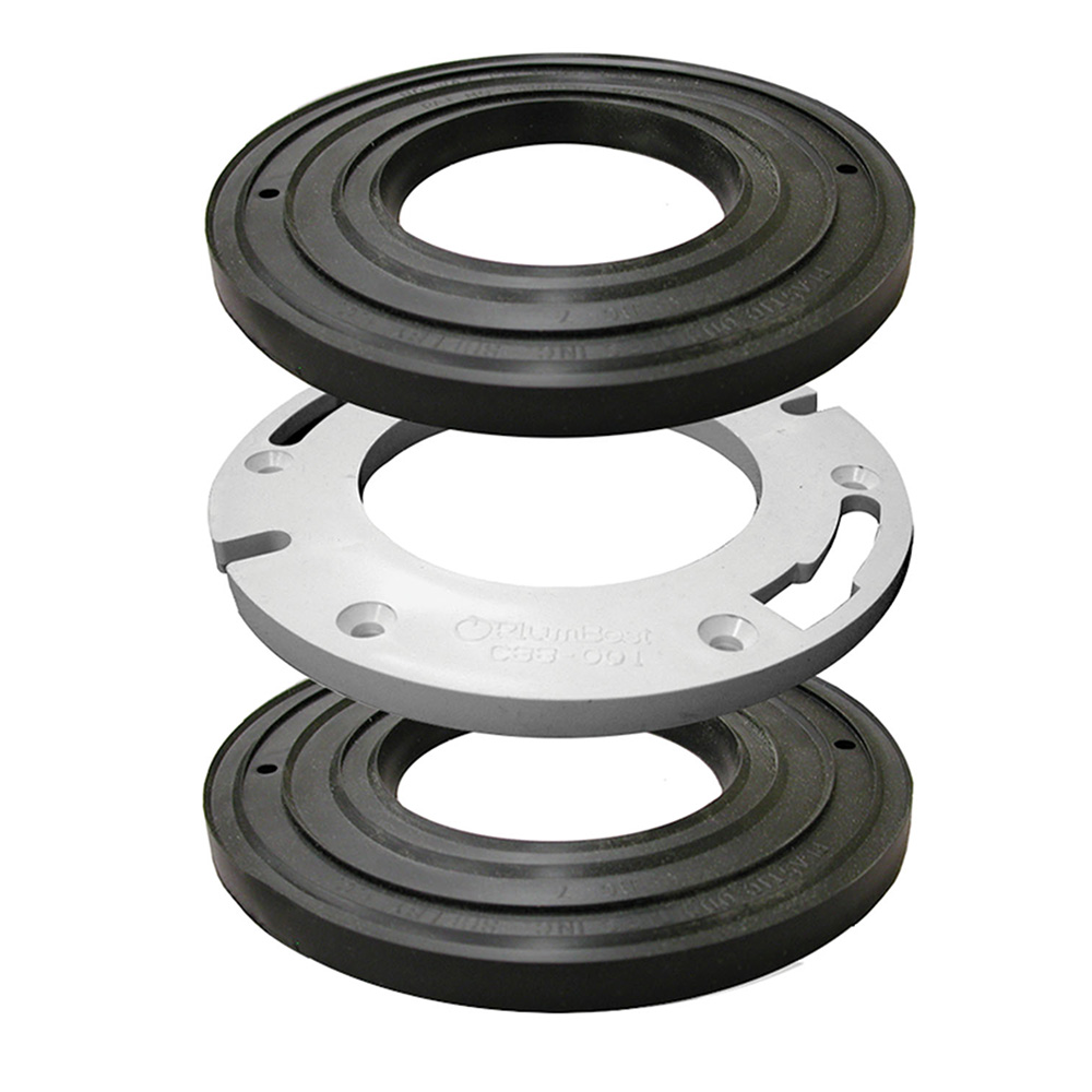 "Closet Flange Spacer Kit with 1"" Repair Rings,PartNo C88600 JonesStephens"