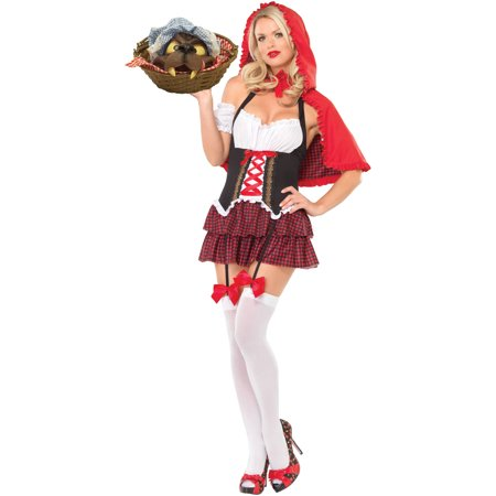 Red Jumpsuit Halloween Costume (Red Riding Hood Women's Adult Halloween)