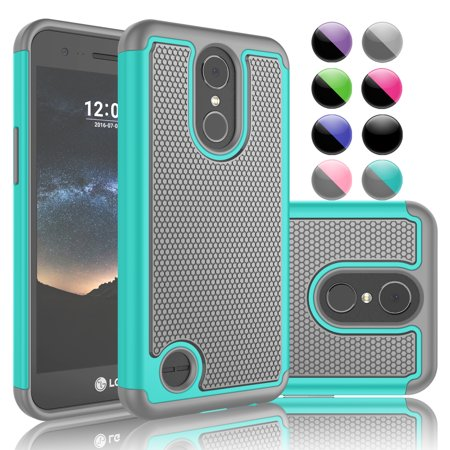 LG K10 2017 Case,LG Harmony / K20 Plus / K20 V / V5 Case,LG K20 V Sturdy Case, [Turquoise] Njjex Hybrid Rugged Rubber Anti-Slip Plastic Hard Case Cover For LG TP260 / MP260