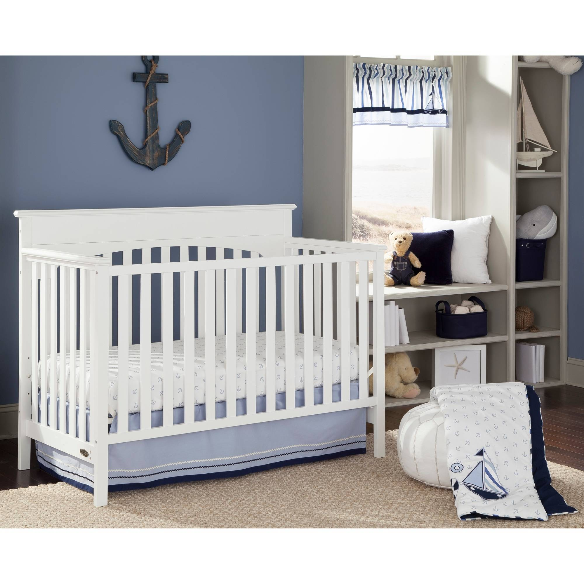 Sorelle Furniture Yorkshire 4 In 1 Lifetime Fixed Side