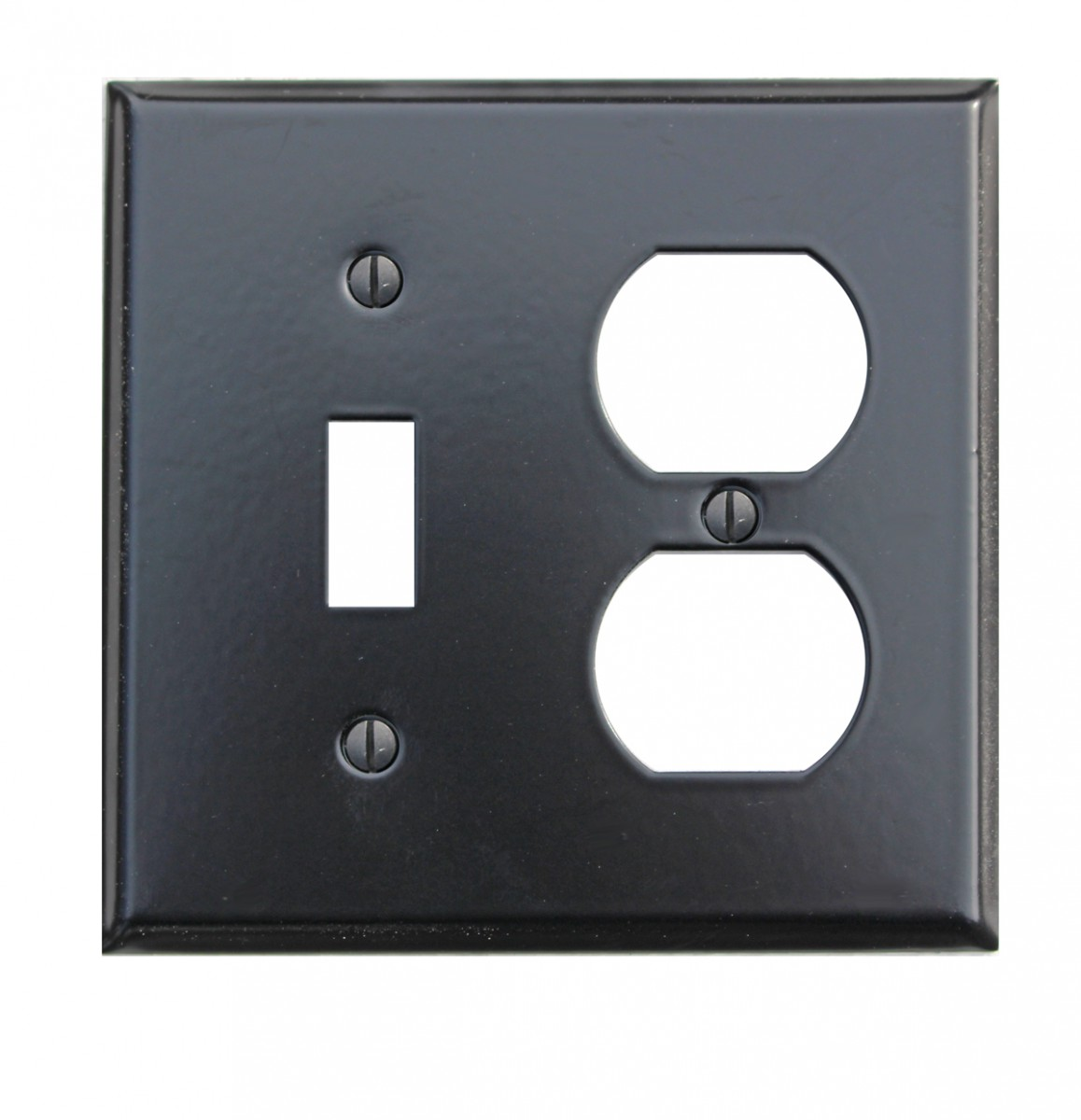 Switchplate Black Steel Toggle Outlet Classic | Renovator's Supply