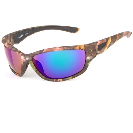 Men's Vertex Driving Real Tree Camouflage Camo Sports Hunting Sunglasses Shade - Palm Tree Sunglasses