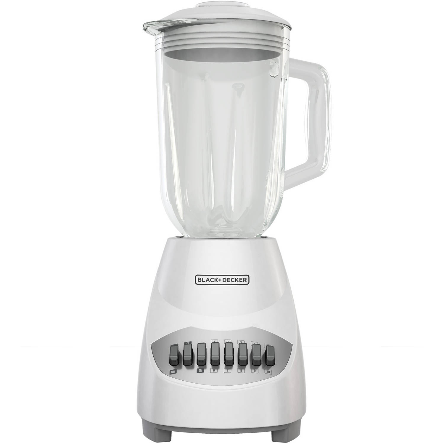 Black & Decker 10-Speed Blender, White