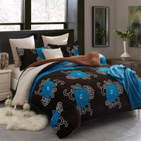 Heavy Sherpa Fleece Bed Blanket and Pillowcase Set