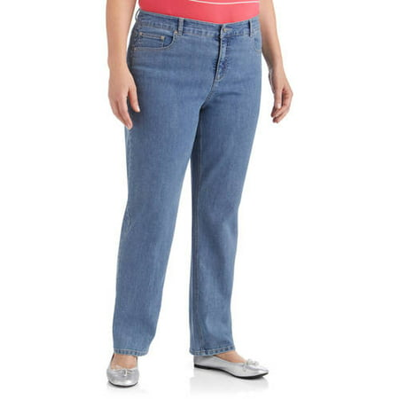 Just My Size Women's Plus-Size Slimming Classic Fit Straight-Leg Jeans With Tummy Control  Regular and Petite Lengths