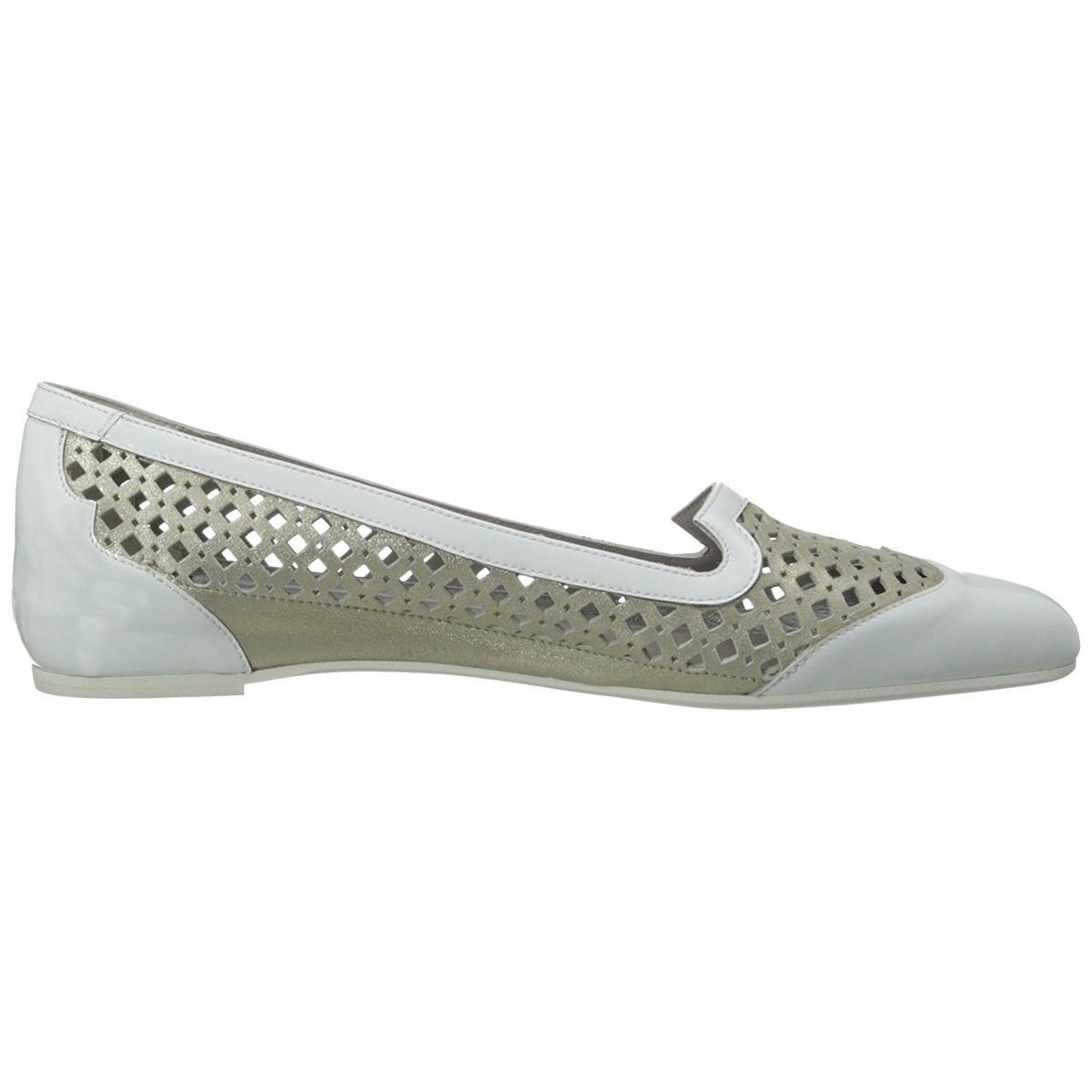 Aquatalia Women's Yvanka White Combo 6.5M Flats 6.5M Combo b4acb9