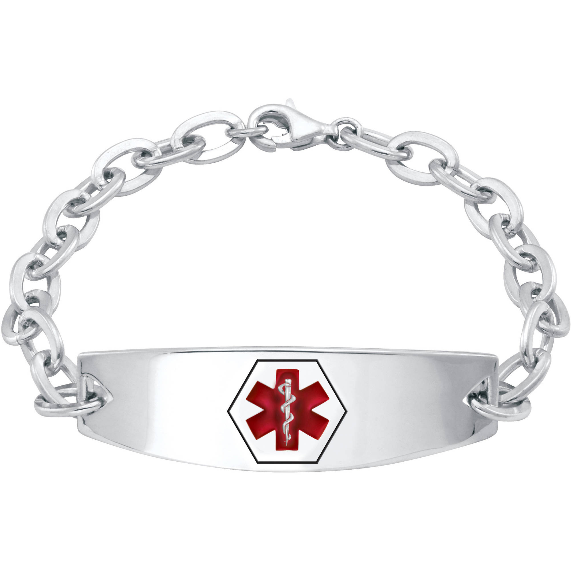 Keepsake Personalized Family Jewelry Women S Medical Id Bracelet In Stainless Steel Or Sterling Silver