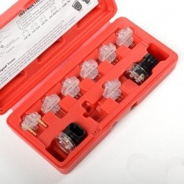 - 9 Piece Fuel Injection NoID Light Tester Testing Tool Set Kit Lite Injector