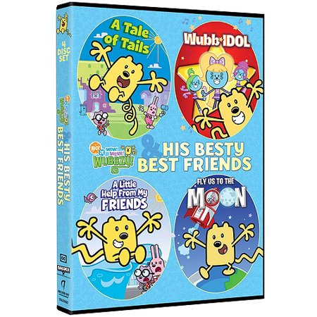 Wow! Wow! Wubbzy!: Wubbzy And His Besty Best Friends - A Tale Of Tails / Wubb Idol / A Little Help From My Friends / Fly Us To The Moon (Full Frame)