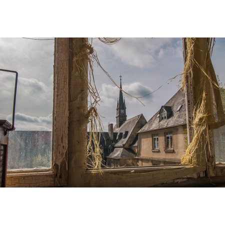 Canvas Print Window Outlook Church Architecture Broken Disc Stretched Canvas 10 x