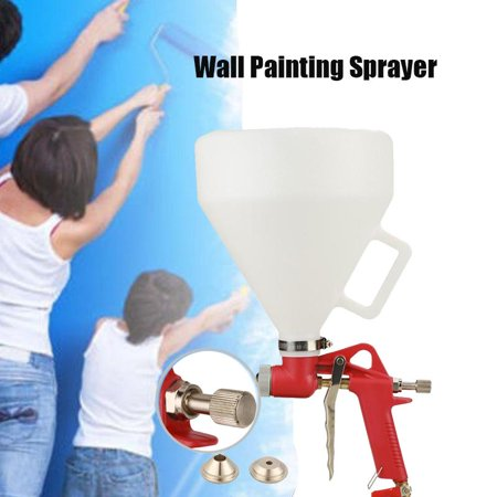 HERCHR Hopper Spray Gun, Ceiling Wall Texture Air Hopper Spray Gun Drywall Render Plaster Painting, Air Paint Spray (Used Drywall Texture Spray Rigs For Sale)