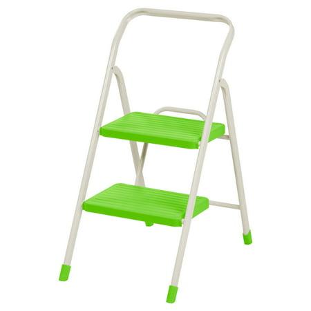 Excellent Iris 2 Step Folding Step Stool Green Evergreenethics Interior Chair Design Evergreenethicsorg