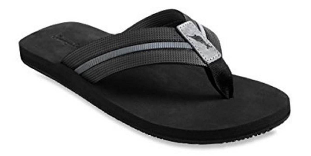 Tommy Bahama Men's TAHeetI Flip-Flop Sandal (Black, US 12 D) by