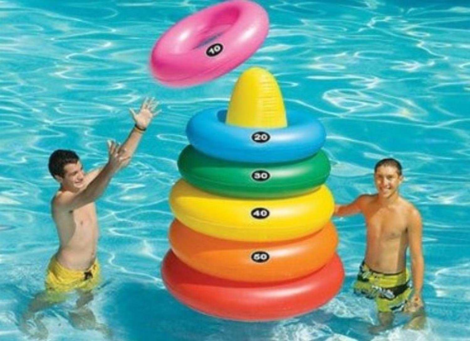 5' Water Sports Inflatable Giant Ring Toss Target Swimming Pool Game by Swim Central