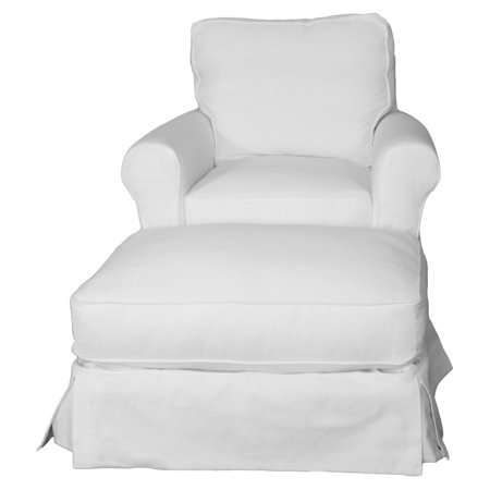Sunset Trading Horizon Box Cushion Chair and Ottoman Slipcover Set (Chair Ottoman Slipcovers)