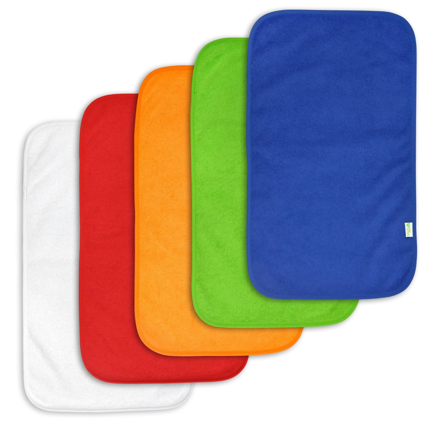 Green Sprouts Terry Burp Pad 5 Pack - Royal Multi Set