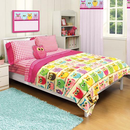 "American Kids Owl Royal Plush 63"" x 90"" Blanket"
