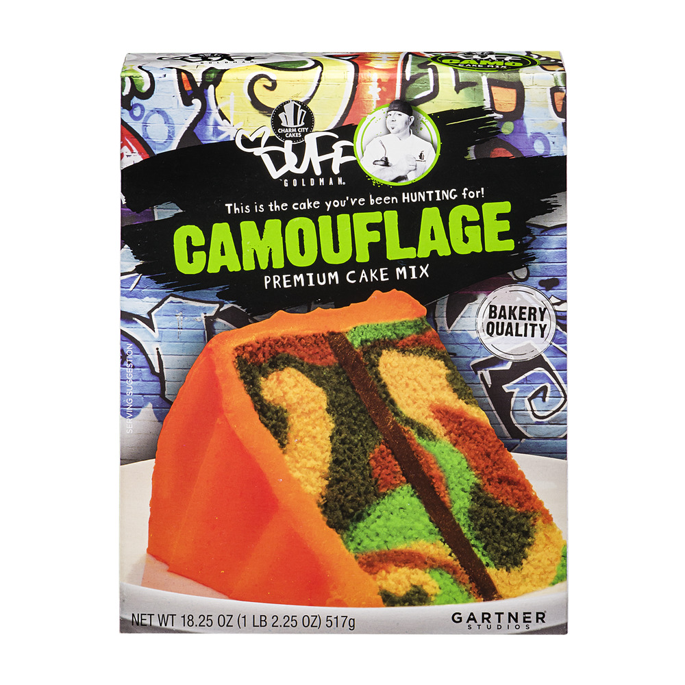 Duff Goldman Camouflage Premium Cake Mix, 18.25 oz by Gartner Studios, Inc.