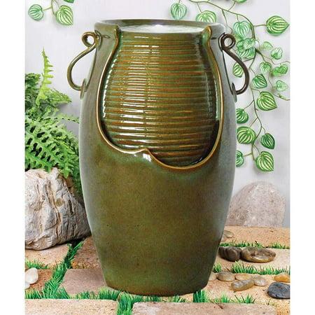 Ceramic Rippling Jar Fountain