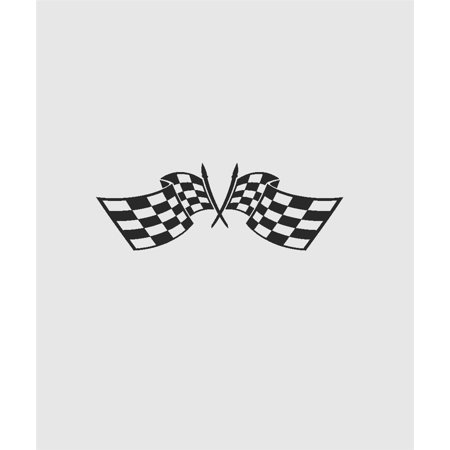 "Custom Wall Decal : Checkered Auto Race Car Flag Wall Sticker : 20 X20"" -"