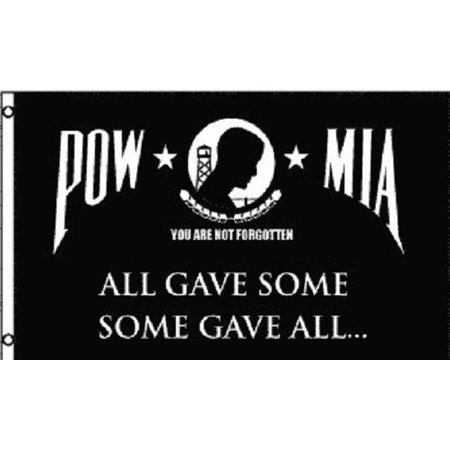Division Memorial (3x5 POW Some Gave All Flag POW MIA Memorial Banner Military Pennant Outdoor )