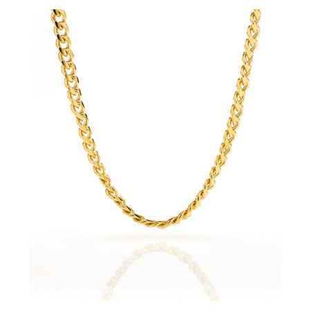 "Image of Cuban Link Chain - 5MM Round, Smooth, 14K Gold Filled Necklace, Hip Hop Fashion Jewelry for Men, Women, Comes in a Box - 24"" Inch's"